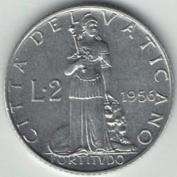 Moneta > 2liry, 1951-1958 - Watykan  - reverse