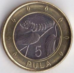 Moneda > 5pula, 2013-2016 - Botswana  - reverse