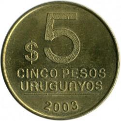 Монета > 5песос, 2003 - Уругвай  - reverse