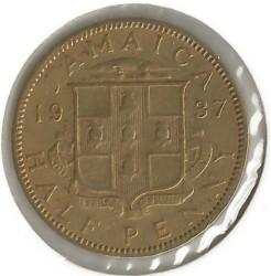 Mynt > ½penny, 1937 - Jamaica  - reverse