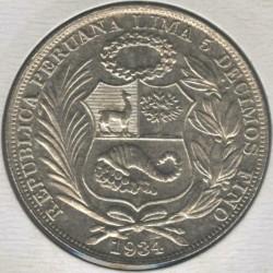 Minca > 1sol, 1923-1935 - Peru  - obverse