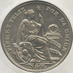 Minca > 1sol, 1923-1935 - Peru  - reverse