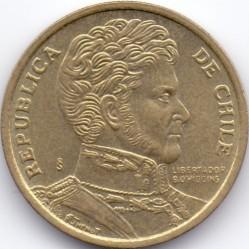 Moneta > 10pesos, 1990-2017 - Cile  - obverse