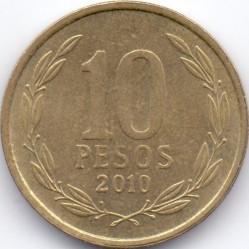 Moneta > 10pesos, 1990-2017 - Cile  - reverse