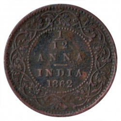 Кованица > 1/12ана, 1862-1876 - Индија - Британија  - obverse