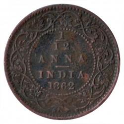 Кованица > 1/12ана, 1862-1876 - Индија - Британија  - reverse