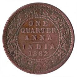 Minca > ¼anna, 1877-1901 - Britská India  - reverse