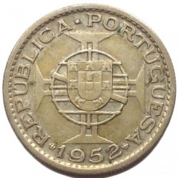 Монета > 10эскудо, 1952-1955 - Ангола  - obverse