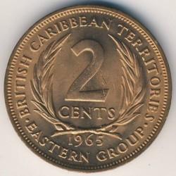Νόμισμα > 2Σέντς, 1955-1965 - Ανατολική Καραϊβική  - reverse