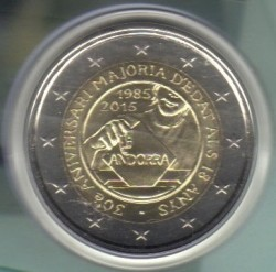 Coin > 2 euro, 2015 - Andorra  (30th Anniversary - Reform of Electoral Law) - obverse