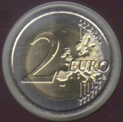 Coin > 2 euro, 2015 - Andorra  (30th Anniversary - Reform of Electoral Law) - reverse