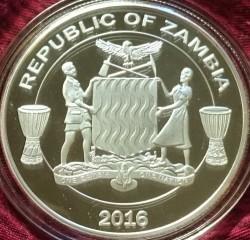 Moneta > 5000kwacha, 2016 - Zambia  (Afrykańska przyroda - Zebra) - obverse