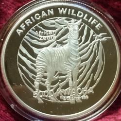 Moneta > 5000kwacha, 2016 - Zambia  (Afrykańska przyroda - Zebra) - reverse