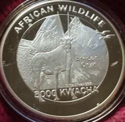 Moneta > 5000kwacha, 2016 - Zambia  (Dzika przyroda Afryki - Oryks pręgoboki) - reverse