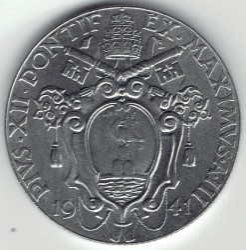 Монета > 1лира, 1940-1941 - Ватикан  - reverse
