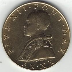 Moneta > 20lirów, 1957-1958 - Watykan  - obverse