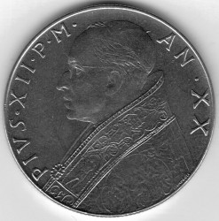 Mynt > 100lire, 1955-1958 - Vatikanstaten  - reverse