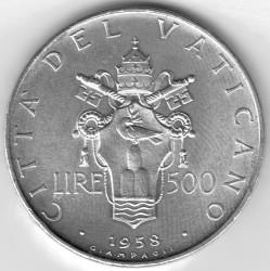 Moneta > 500lirów, 1958 - Watykan  - reverse