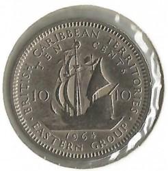 Νόμισμα > 10Σέντς, 1964 - Ανατολική Καραϊβική  - reverse