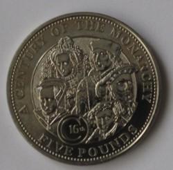 მონეტა > 5ფუნტი, 2004 - გერნსი  (16th Century Monarchs) - reverse