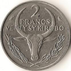 Кованица > 2франке, 1965-1989 - Мадагаскар  - reverse