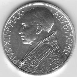 Moneta > 5lirów, 1950 - Watykan  - obverse
