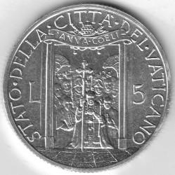 Moneta > 5lirów, 1950 - Watykan  - reverse