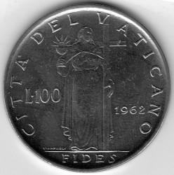 Монета > 100лір, 1960-1962 - Ватикан  - reverse