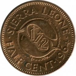 Монета > ½цент, 1964 - Сиера Леоне  - reverse