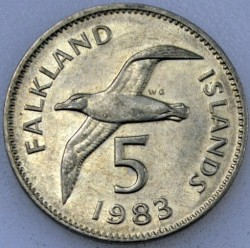 سکه > 5پنس, 1974-1992 - جزایر فالکلند  - reverse
