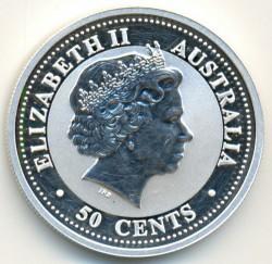 Moneta > 50centesimi, 2002 - Australia  (Anno lunare - Anno del cavallo) - obverse