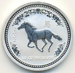 Moneta > 50centesimi, 2002 - Australia  (Anno lunare - Anno del cavallo) - reverse