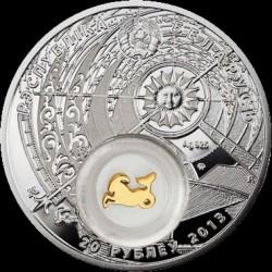Moneta > 20rubli, 2013 - Białoruś  (Znaki zodiaku - Koziorożec /pozłacany/) - obverse