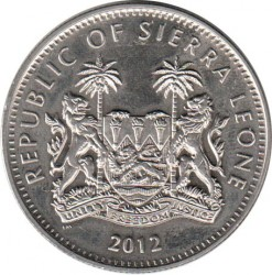 Moneda > 1dólar, 2012 - Sierra Leona  (XXX Juegos Olímpicos de Verano, Londres 2012 - Salto Con Pértiga) - obverse