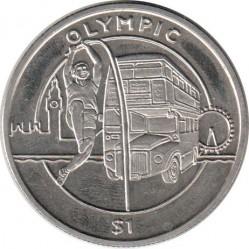 Moneda > 1dólar, 2012 - Sierra Leona  (XXX Juegos Olímpicos de Verano, Londres 2012 - Salto Con Pértiga) - reverse