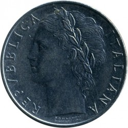 Coin > 100 lire, 1973 - Italy  - obverse