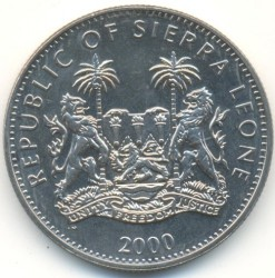 Münze > 1 Dollar, 2000 - Sierra Leone  (Year of the Dragon /side view/) - reverse