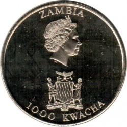Moneda > 1000kwacha, 2003 - Zambia  (50 aniversario - Coronación de Isabel II) - obverse