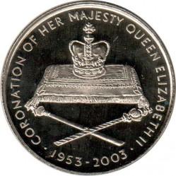 Moneda > 1000kwacha, 2003 - Zambia  (50 aniversario - Coronación de Isabel II) - reverse