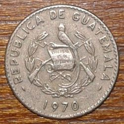 Moneta > 5centavos, 1965-1970 - Gwatemala  - reverse
