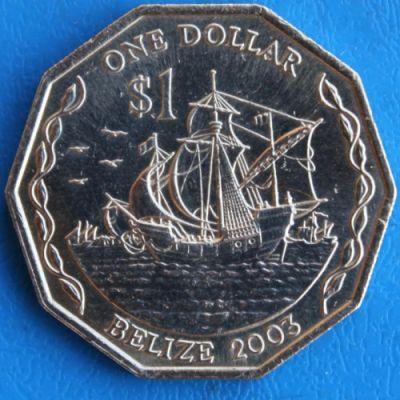 belize 1 dollar coin