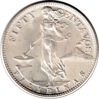 50 Centavos 1944 1945 Philippines Coin Value Ucoinnet