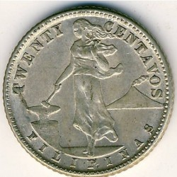 Moneda > 20 centavos, 1937-1945 - Filipinas  - obverse