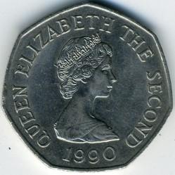 Moeda > 50pence, 1983-1997 - Jersey  - obverse