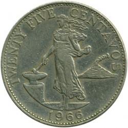 Mynt > 25centavos, 1958-1966 - Filippinene  - reverse