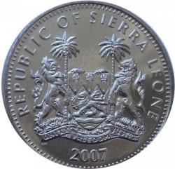 Moneta > 1dollaro, 2007 - Sierra Leone  (Animali - Elefante) - obverse