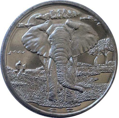AFRICAN ELEPHANT 2007 Sierra Leone Coin Dollar