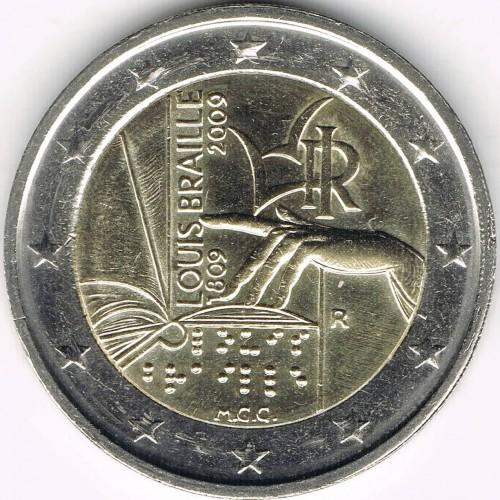 2 /€ Italien 2009 Louis Braille