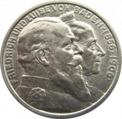 Moneda > 2marcos, 1906 - Alemán (Imperio)  (50º Aniversario - Boda de Federico I y Luisa de Prusia) - obverse