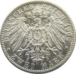 Monēta > 2markas, 1906 - Vācijas impērija  (50th Anniversary - Wedding of Frederick I and Louise of Prussia) - reverse
